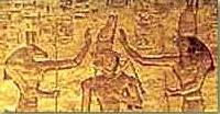 Set and Horus Crowing the Pharaoh