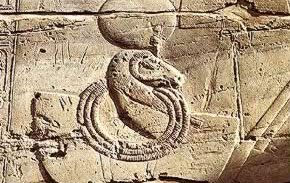 A depiction in Seti I's Temple of Millions of Years at Luxor in Egypt
