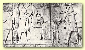 Seti Pouring Libations  for Osiris