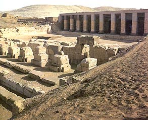The Facade of the Main Seti I Temple at Abydos
