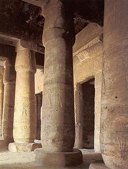 Columned Hall in the Main Seti I Temple at Abydos
