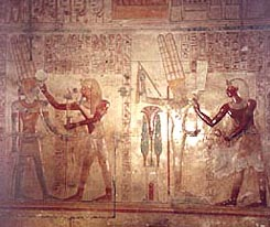 Scene from the Chapel  dedicated to Amun