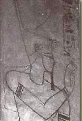 An image of Setnakhte wearing the Red Crown from his tomb