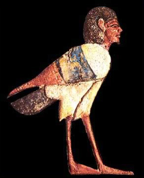 The ba was often depicted as a bird with a human head