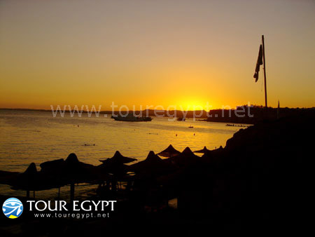 Sharm El Sheikh shoreline at night