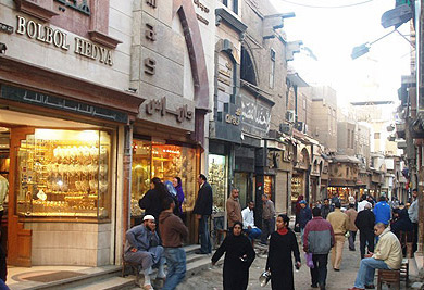 The El Sagha Gold Jewelry District in Cairo, Egypt