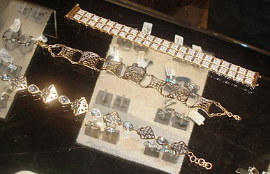 A selection of bracelets in the range of 2,000 to 3,000 LE from Game' Square