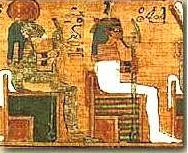 Tefnut and Shu from the Scribe Ani's the Book of the Dead