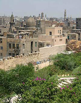 A view of the mosque from Al-Azhar Park