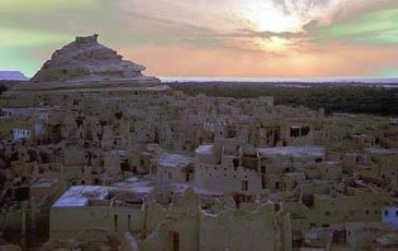 The ancient fortress of  Shali in the Siwa Oasis
