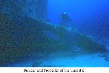 Rudder and propellor of the Carnatic