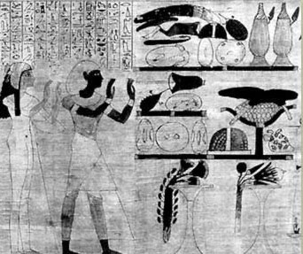 A scene from the joint Funerary papyrus of Herihor and his wife, Nodjmet