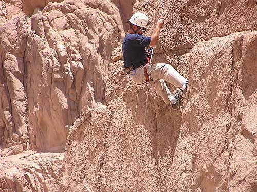 Mountain climbing in Sinai