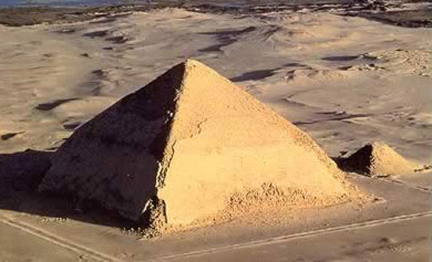 A general view of the Bent Pyramid at Dahshur in Egypt