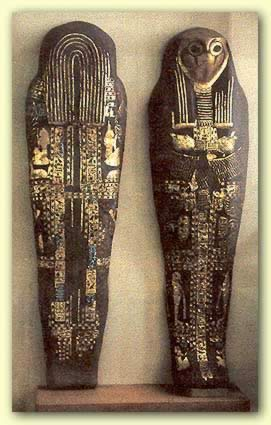 The Silver coffin of Sheshonq I taking the form of Sokar