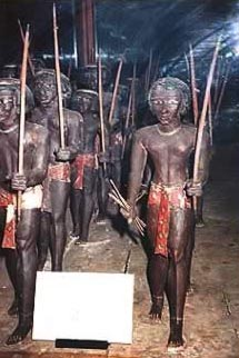 An ancient model of Nubian Soldiers on the March