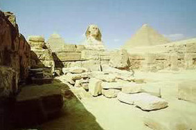 The Sphinx temple in front of the Sphinx
