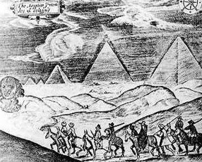 The Giza pyramids and Sphinx according  to Sundys in the seventeenth century