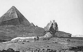 "The Sphinx according to the ""Description de l'Egypte"" at the end of the eighteenth century"