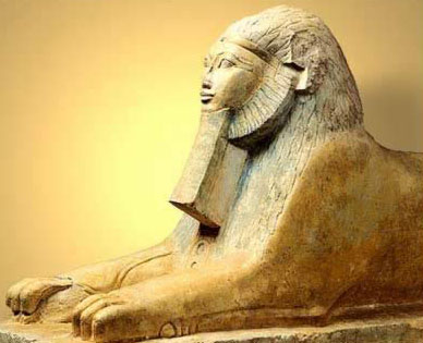 The much later sphinx statue of Hatshepsut
