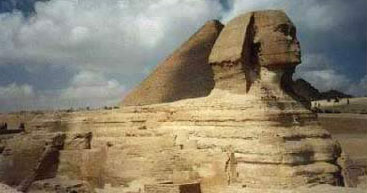 Side view of the Great Sphinx at Giza
