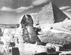 The Sphinx buttressed against war damage in the 1940s