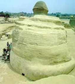 The Sphinx seen from behind
