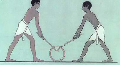 Ancient Egyptian Sports-Tug of Hoop