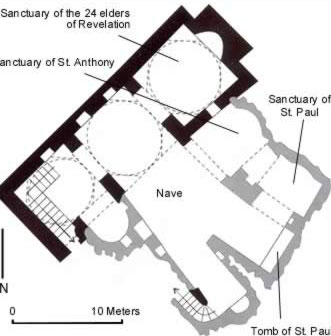 Plan of the Church of St. Paul in the Monastery