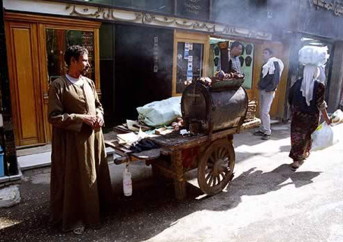 Yam Vendor at the Khan el Khalili in Cairo