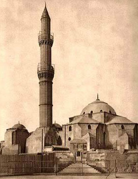 Archaic drawing of the Mosque of Sulayman Pasha