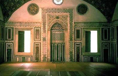 The qibla Wall and the mihrab