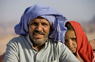 A bedouin and his daughter in the Sinai