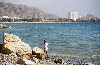 A view of Taba from a nearby beach