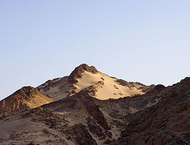 A sand covered ridge in the Southern Sinai Interior