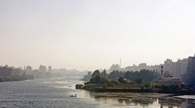 A view down the Nile branch at Mansura.