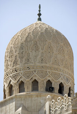 One of the ornately decorated domes of the Mosque of Abu el-Abbas el-Mursi