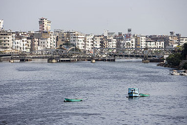 The Nile River branch at Damietta