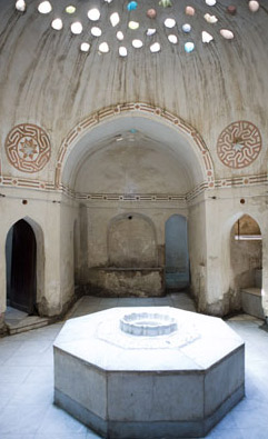 A chamber within the bath house at Rasheed