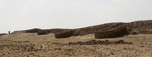 A view of the defensive walls at Pelusium