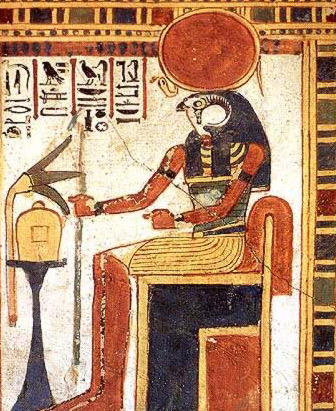 The syncretistic god, Re-Horakhty-Atum