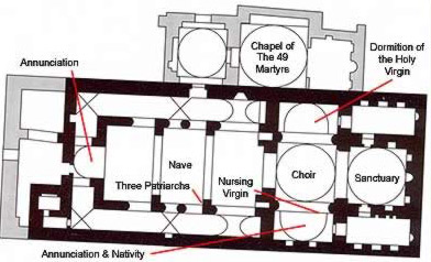 Plan of the Church of the Holy Virgin