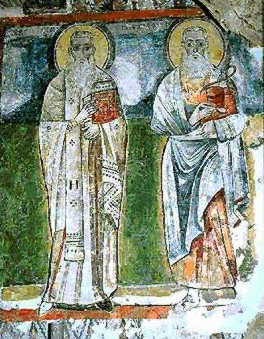 St. Pisentios, bishop of Koptos and St. Apakir