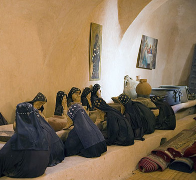A view of the Refectory, complete with dummy monks