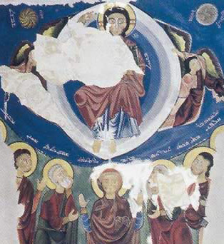 The Ascension from the Monastery of the Syrians, Virgins and Apostels, aquarelle copy