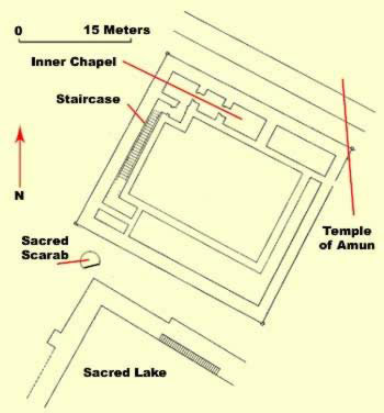 Floorplan of the main section of the Osirian Temple of Taharaqa at Karnak