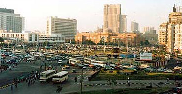 Tahrir Square on a busy weekday