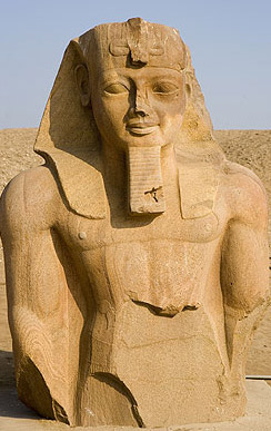 Another huge statue of Ramesses II