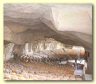 Interior view of the cave now used for spiritual meetings and events.