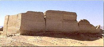 Temple enclosure  wall in the Fayoum